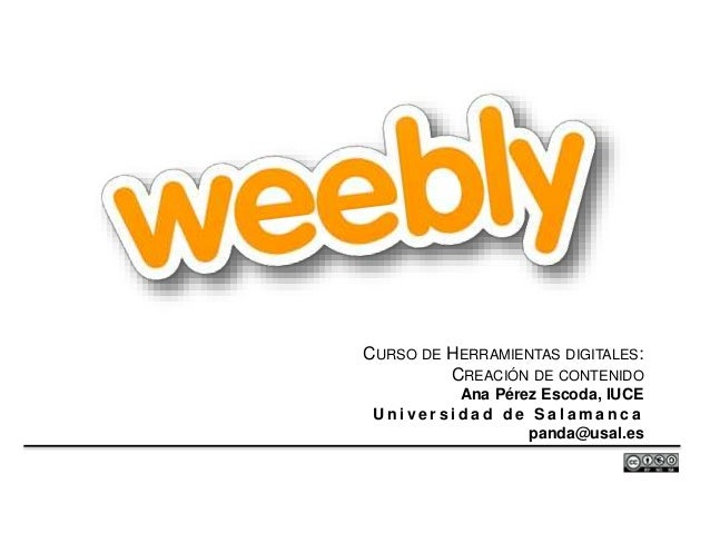 Competencias digitales: uso de Weebly