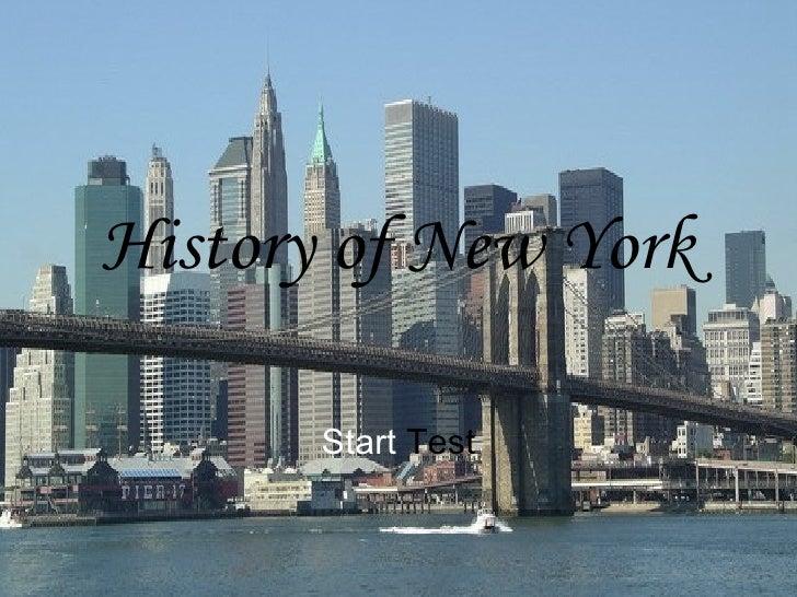 History of New York Start  Test