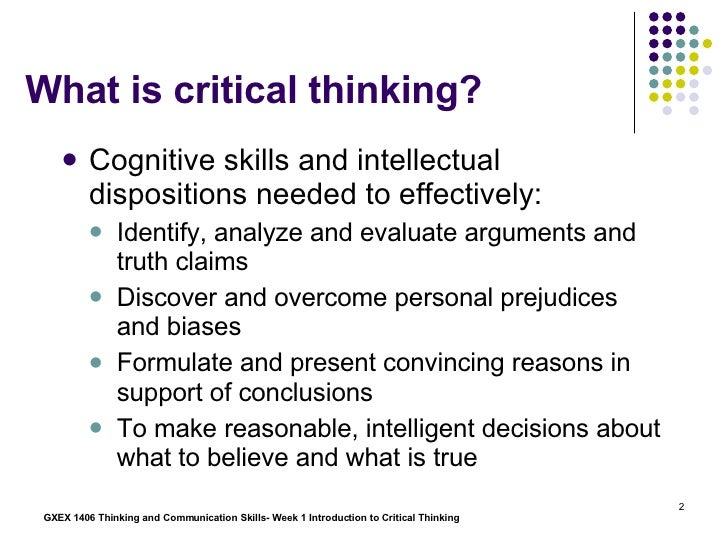 Critical thinking - Wikipedia, the free encyclopedia