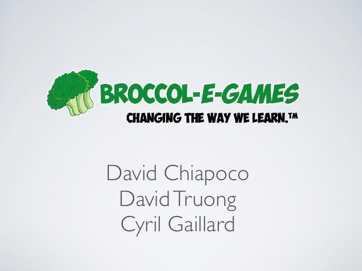 David Chiapoco David Truong Cyril Gaillard
