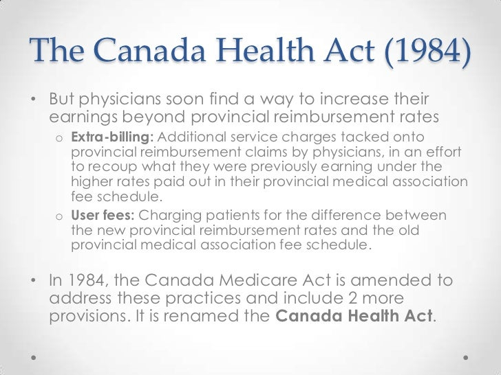 an introduction to the undermining of the canada health act Under the federal canada health act in this article, we argue that the  development  ride legal rulings that might undermine founding provincial  principles  the initial introduction of the ontario ccacs model by the harris.