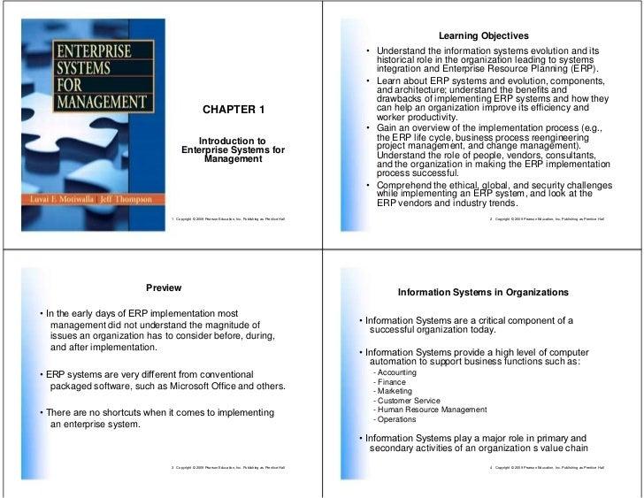 Introduction: Enterprise Systems for Management