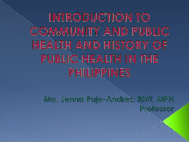 Overview of Session The students are introduced to  Community and Public Health, its scope  of services as well as its de...