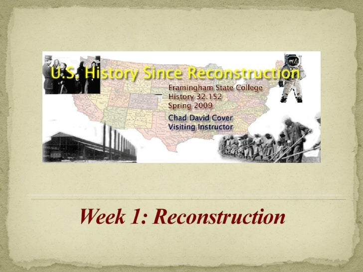 US History ~ Week One Lecture