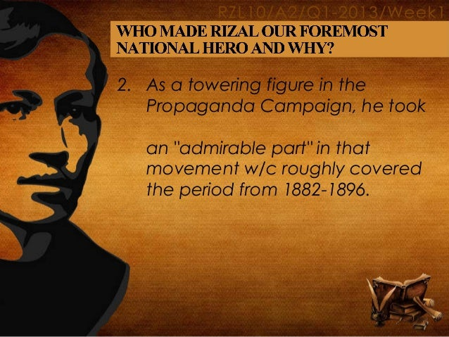 who and what made rizal our foremost national hero reaction paper essay
