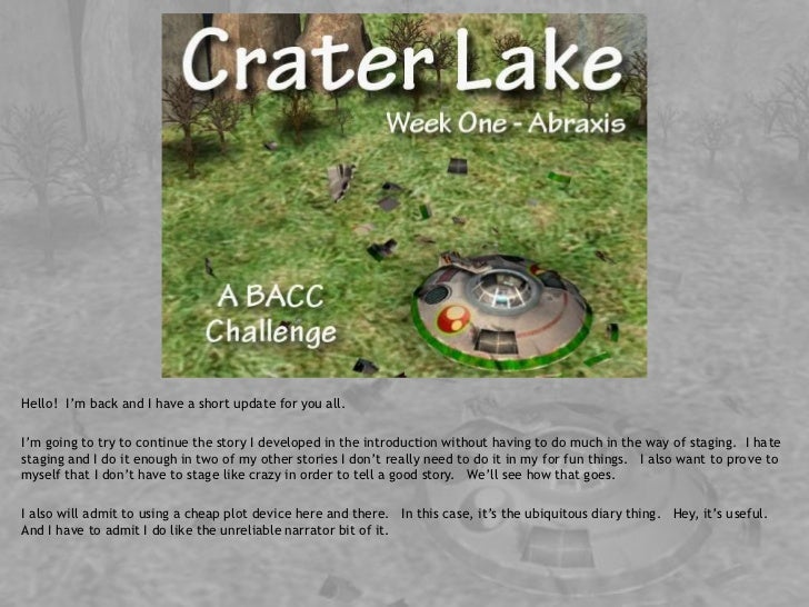 Crater Lake - BACC - Week 1 - Abraxis