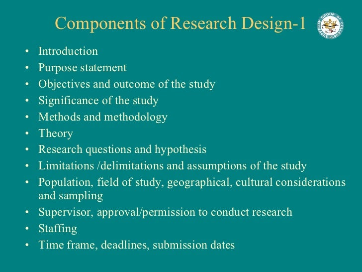 Components of a good research