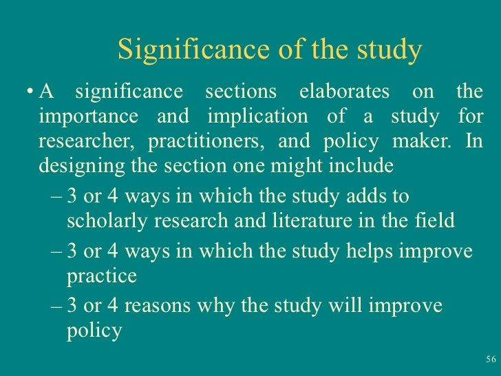significance of the study in thesis 1 1 introduction 11 purpose and significance of the study as we move into the next decade, we are going to have to learn how to better.