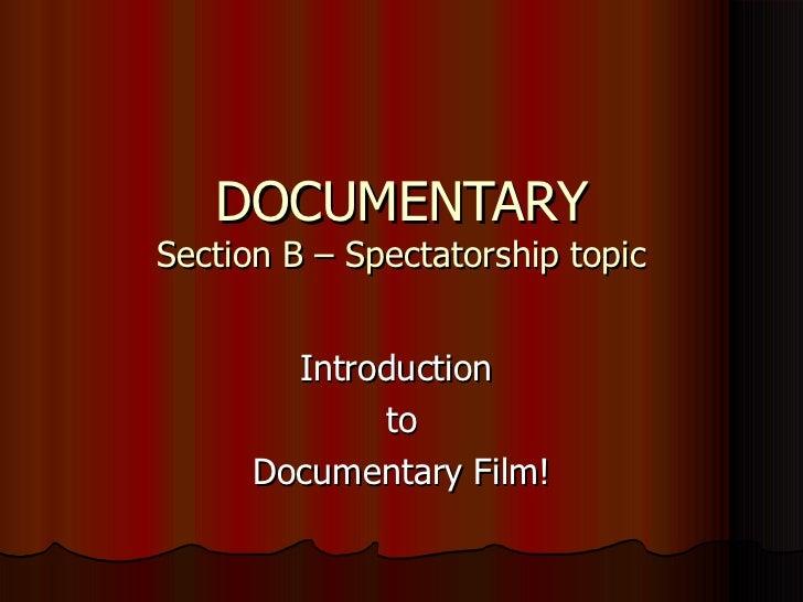 Week 1  documentary