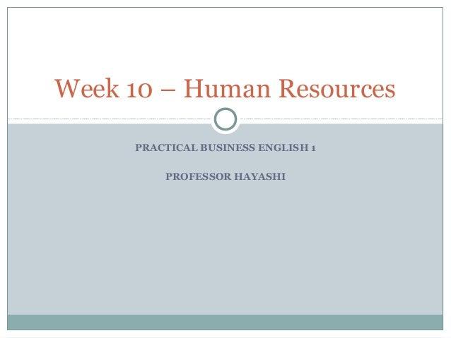 Week 10   employment