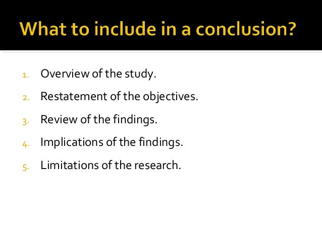 how to write a feasibility study conclusion