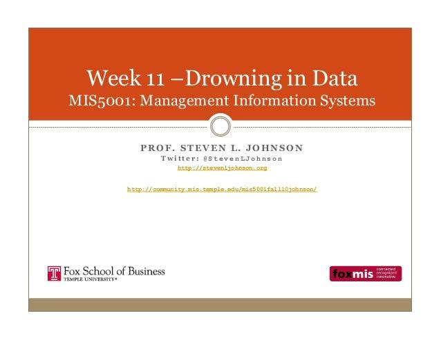 Week 11 Drowning in Data