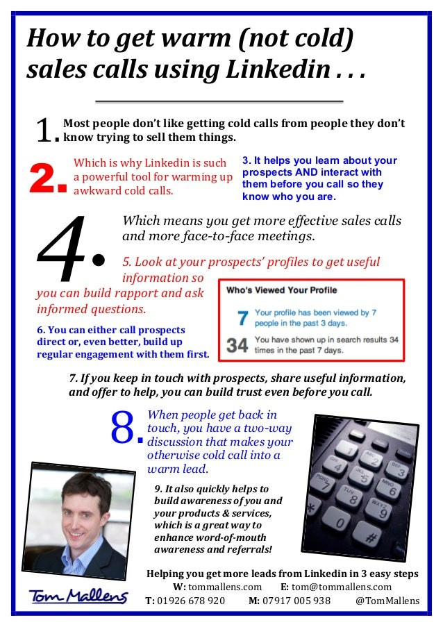 How to get warm (not cold) sales calls using Linkedin