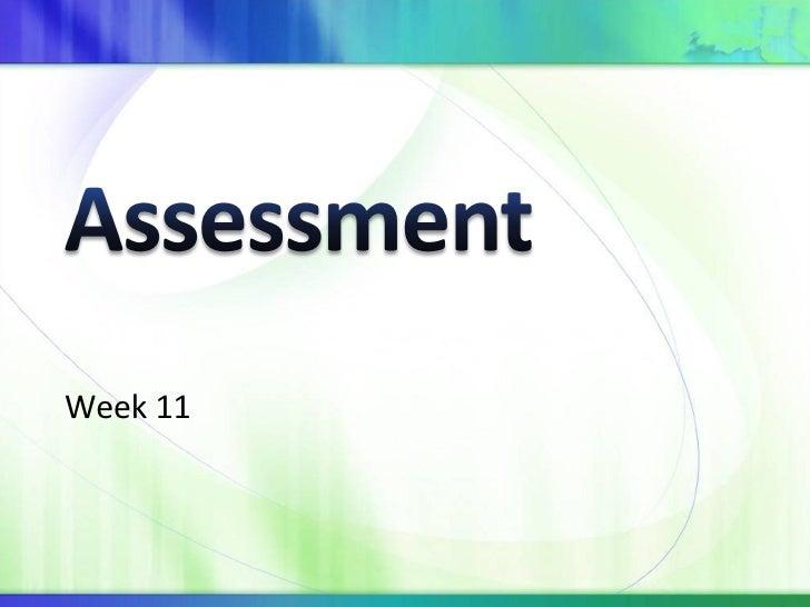 Week 11 Assessment