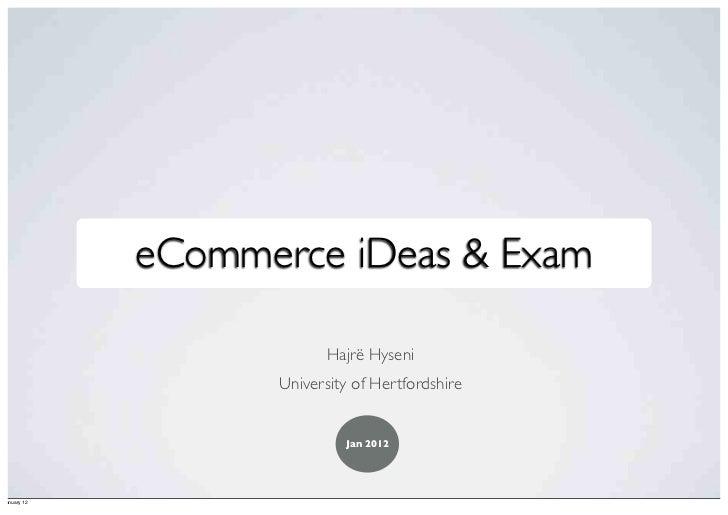 iDeas on eCommerce