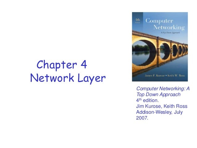Chapter 4 Network Layer Computer Networking: A Top Down Approach 4th edition. Jim Kurose, Keith Ross Addison-Wesley, July ...