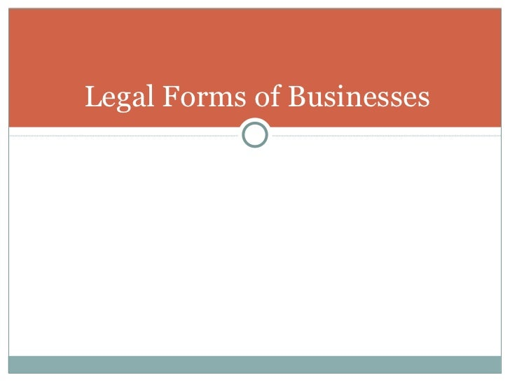 Legal Forms of Businesses