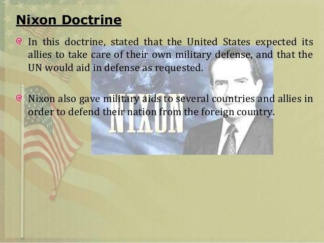 Nixon Doctrine Definition