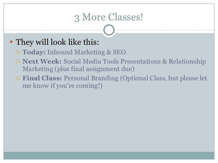 Week 13:Inbound Marketing & SEO