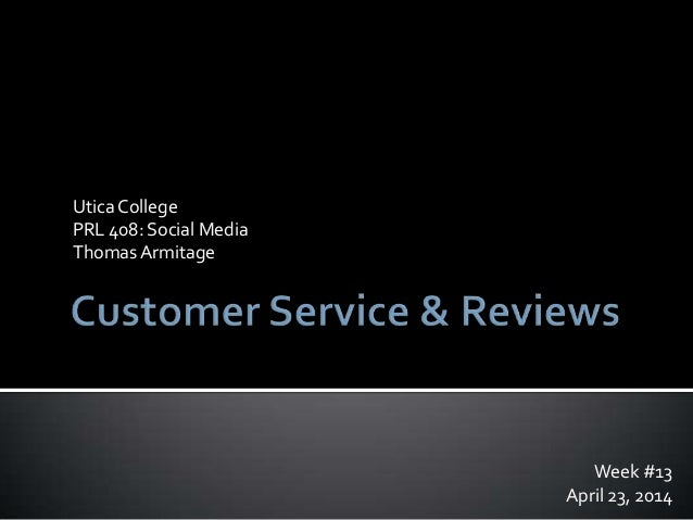 Customer Service and Reviews with Social Media