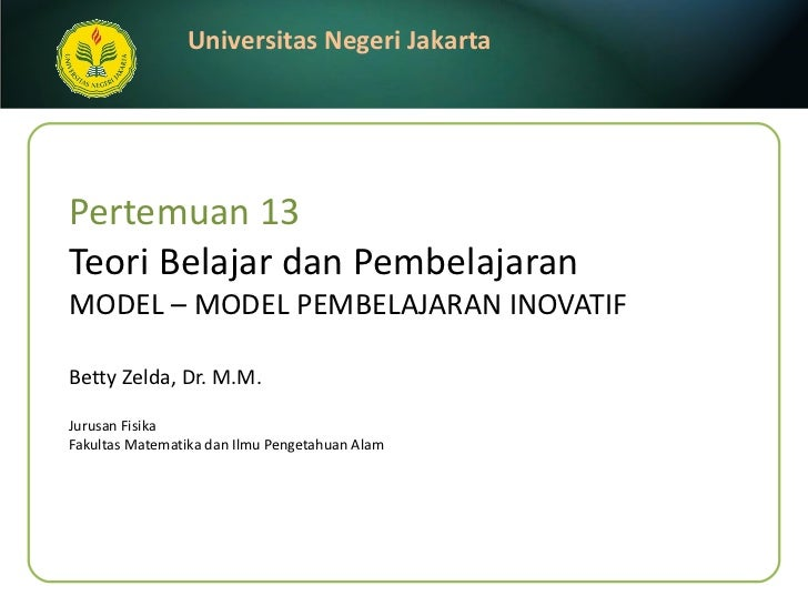 Week13 model pembelajaran
