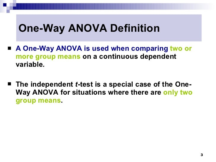 research journals on one way anova