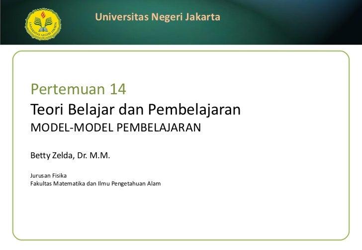 Week14 -model pembelajaran