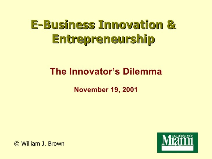UM MBA program: The Innovators Dilemma