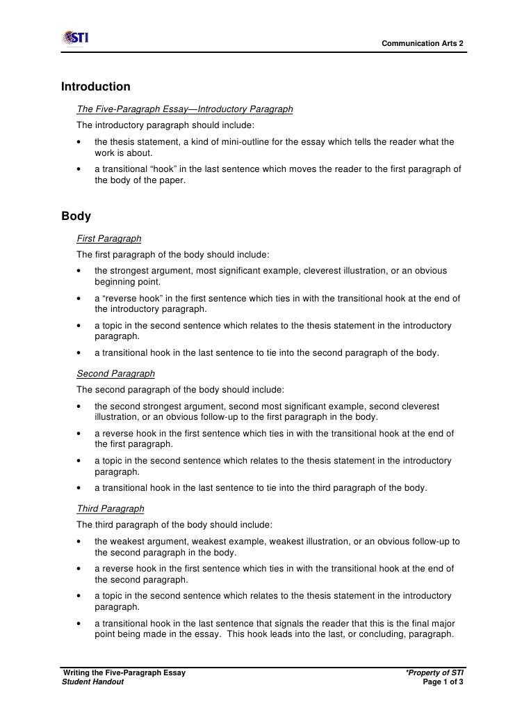 1 paragraph essay outline Structure of the five paragraph essay page fall 2006 structure of the five paragraph essay_gc 1 of 4 http://wwwgcmaricopaedu/english/essay/tablehtml.
