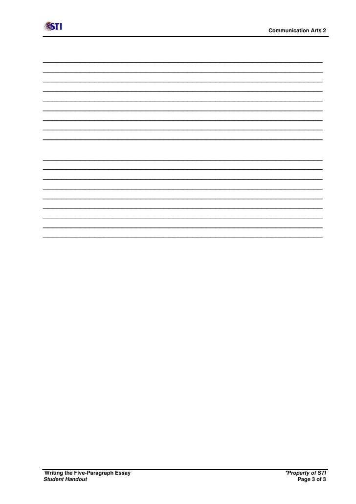 five paragraph essay outline printable Get a perfect essay outline template to create your own outline in quick, neat and professional way download for word 5 paragraph essay outline template.