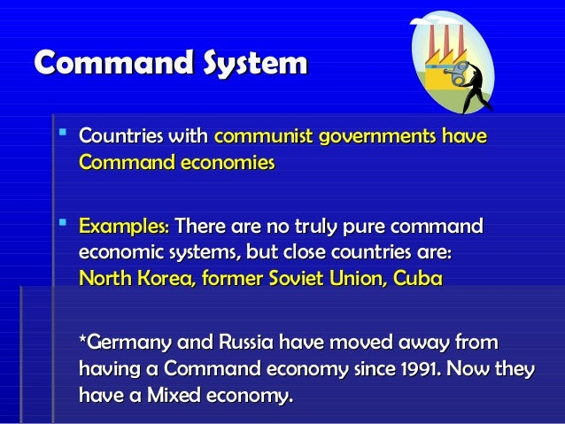 command economy essay example A command economy, or a planned economy, is where the big decisions are made at the centre by the government in an economic system the main decisions are, for example, allocating resources like labour, capital and oil.