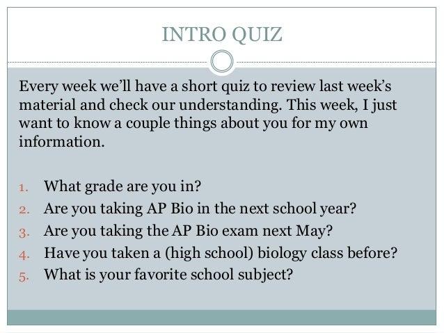 Ap Bio Essay Rubrics