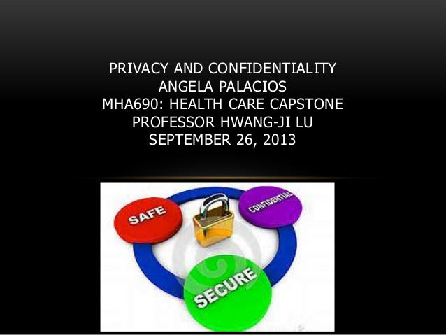 Week 1 discussion  patient confidentiality