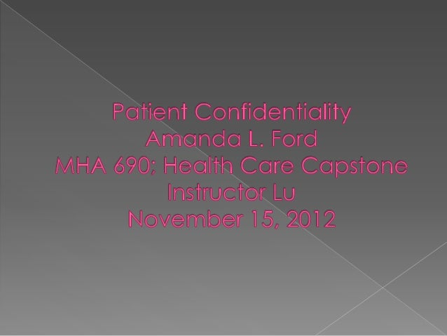 """   """"A breach of confidentiality is a    disclosure to a third party, without    patient consent or court order, of privat..."""