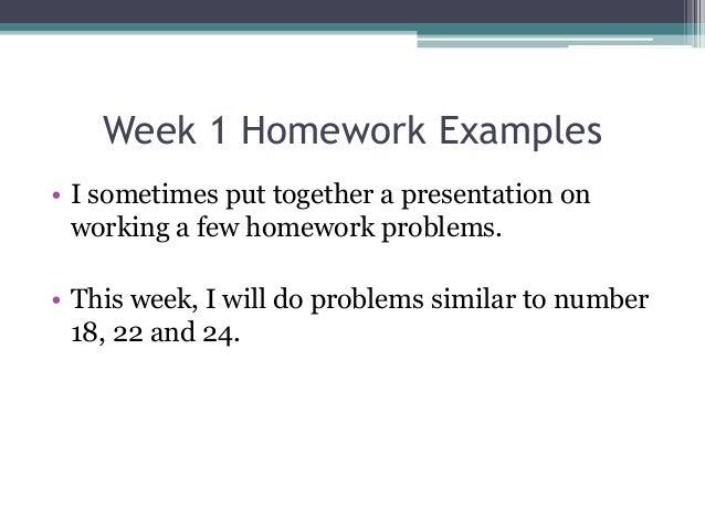 Week 2 homework help - gm520