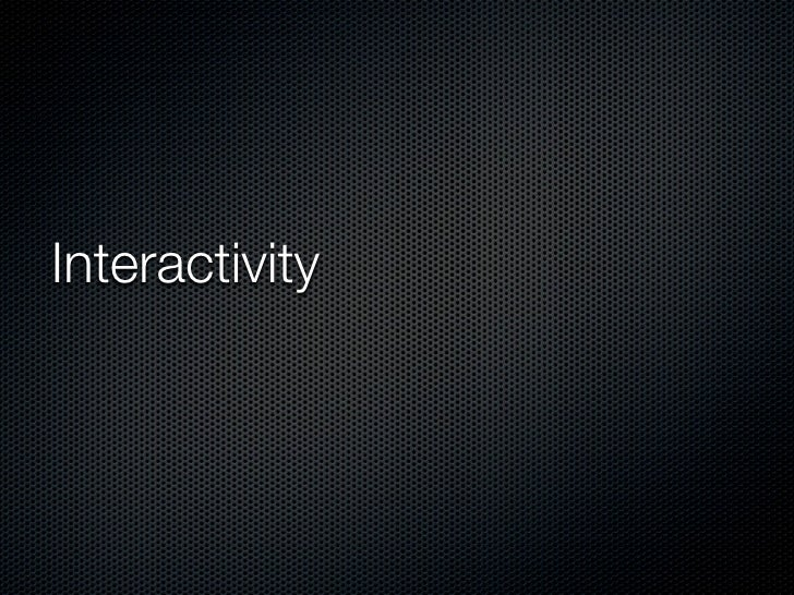 Week1 Interactivity