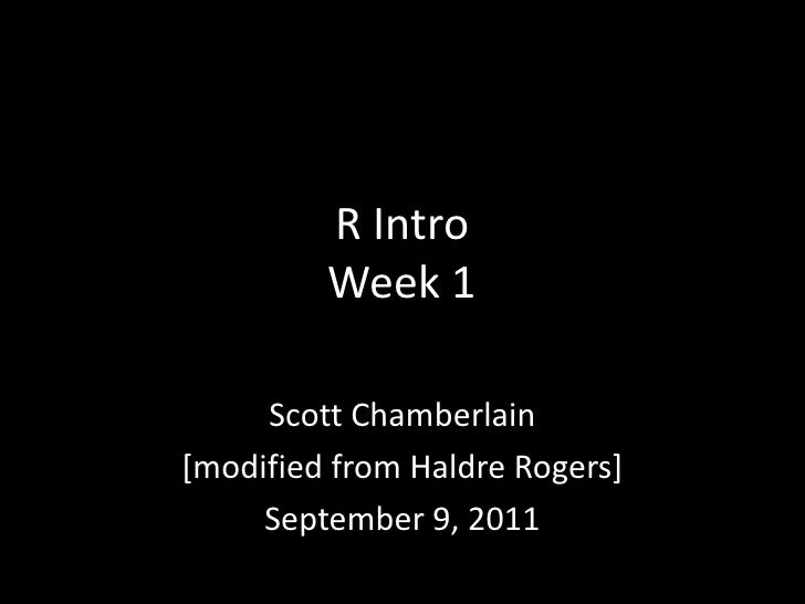 R Introduction