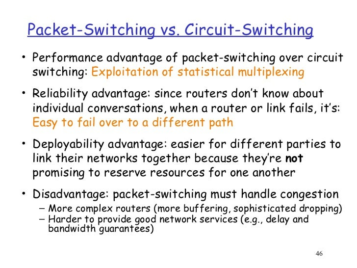 circuit switching and packet switching essay Describe the open systems interconnection (osi) protocol model  describe the open systems interconnection  of circuit switching and packet.