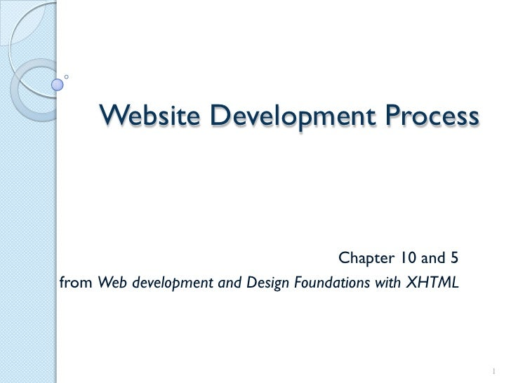 Website Development Process                                      Chapter 10 and 5from Web development and Design Foundatio...