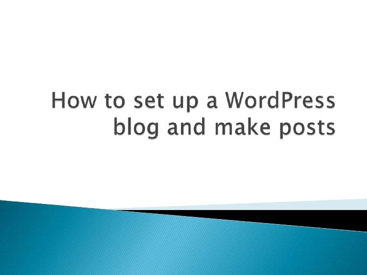 """   Go to http://www.wordpress.com and click    on the """"get started here"""" button (it's orange)."""