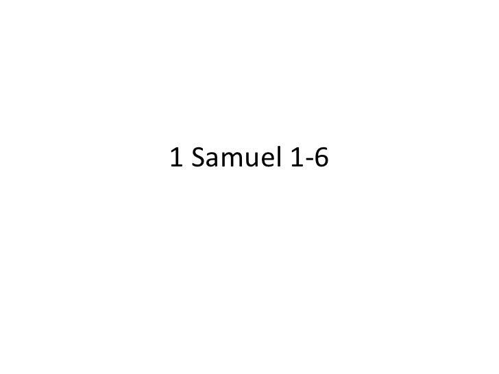 1 Samuel 1-6