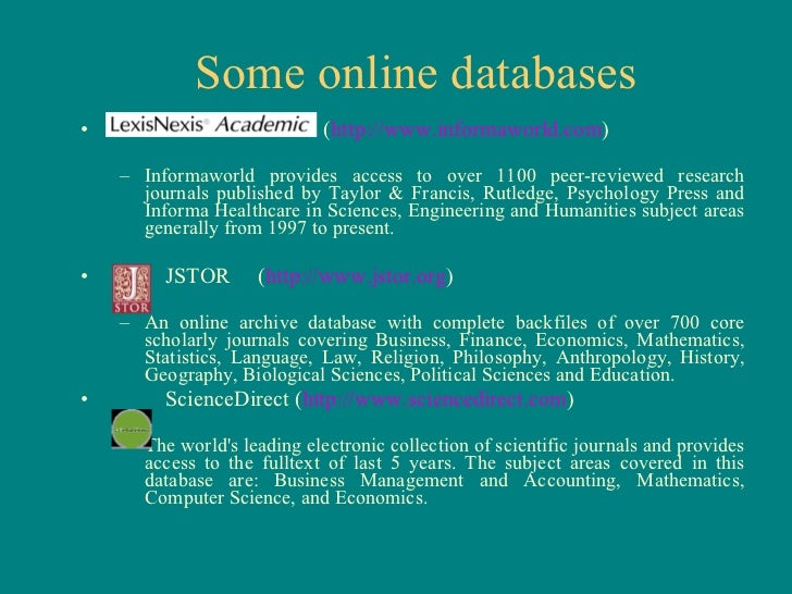 scientific research papers database Scientific journals are multidimensional open access gateways for the exploration of scientific discoveries and new research in the medical and other scientifics scientific journals represent the collaborative efforts of many.