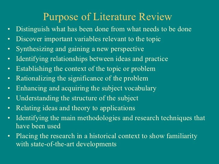 what is the role of the introduction of literature review in a research paper Reviewing the literature: a short guide for  reviews of previous literature in a thesis or research paper are not summaries of  an outline of the introduction .