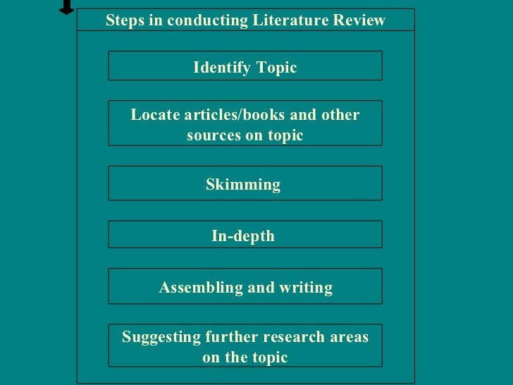 Conduct a literature review