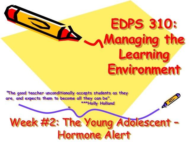 Hormone Alert - The Young Adolescent