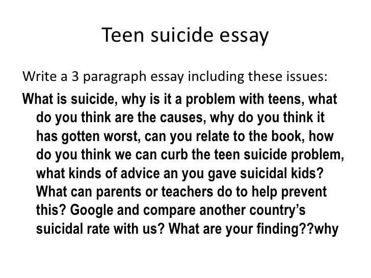 teen suicidal behavior in our society essay An argumentative essay on suicide individual is tasked with an important role in the society we may not love our lives the consequences of suicide are not.