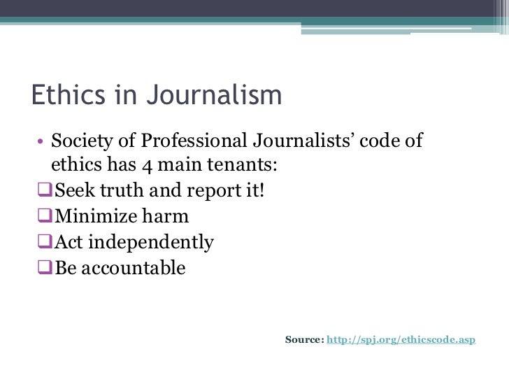 Code of ethics in media?