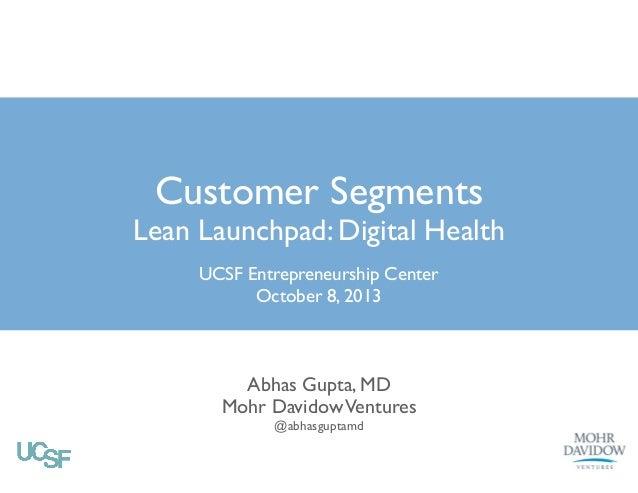 UCSF Life Sciences Week 2 digital health - Customer Sements