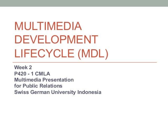 MULTIMEDIADEVELOPMENTLIFECYCLE (MDL)Week 2P420 - 1 CMLAMultimedia Presentationfor Public RelationsSwiss German University ...