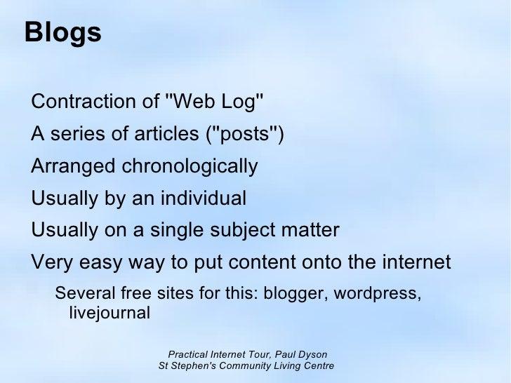 Week2: Read Blogs